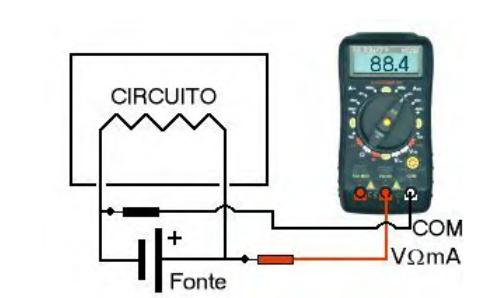 Medindo tensão elétrica ou voltagem