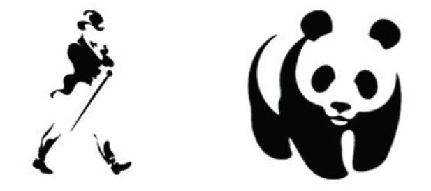 Logo do Johnnie Walker e da WWF