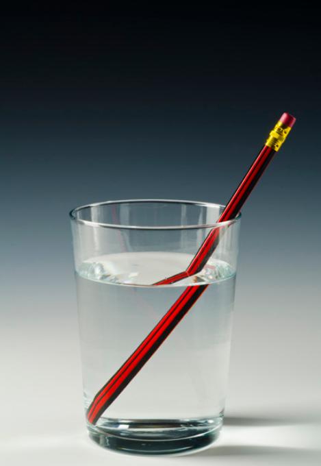Refração água e ar
