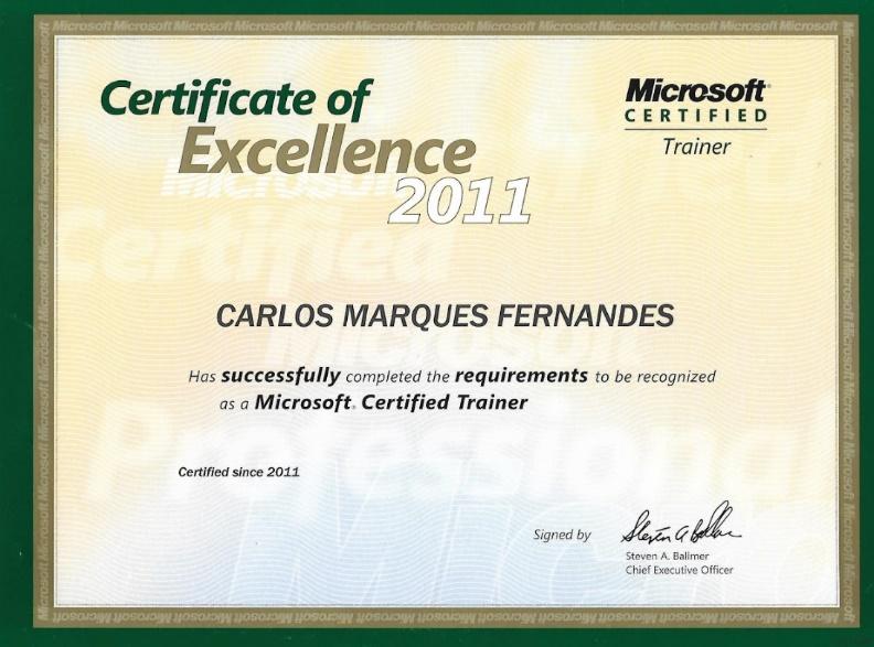 Figura 1 - Certificado Microsoft