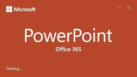 Figura 2 - Splash screen do PowerPoint 365