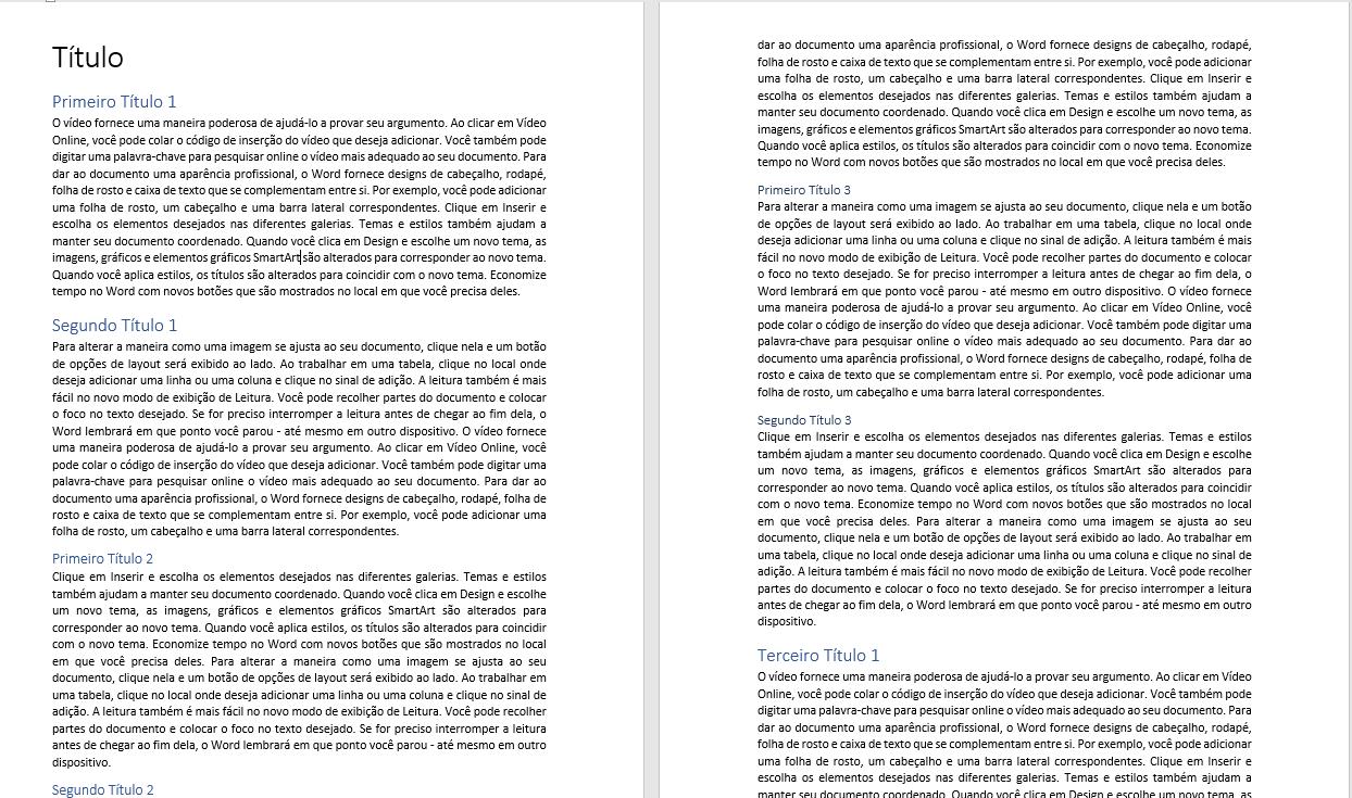 Figura 2 - Texto com Títulos e Subtítulos