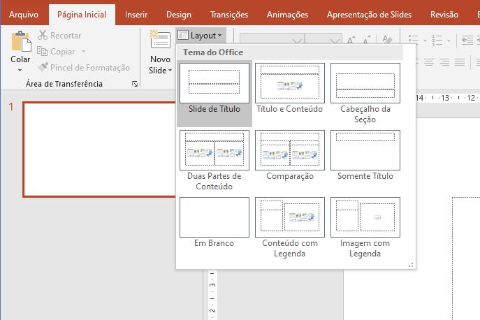 """Figura 3 - Opções da ferramenta """"Layout"""""""