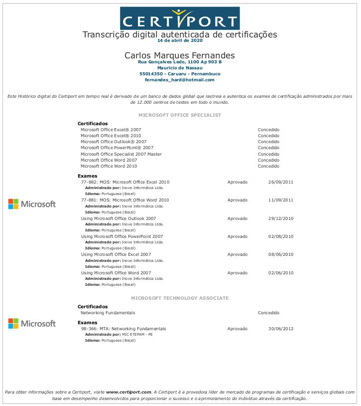 Figura 3 - Transcript do Órgão Aplicador de Exames