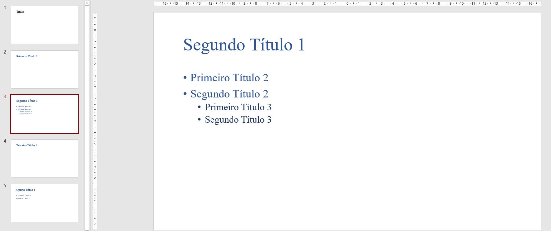 Figura 6 - Slides na área de trabalho do PowerPoint