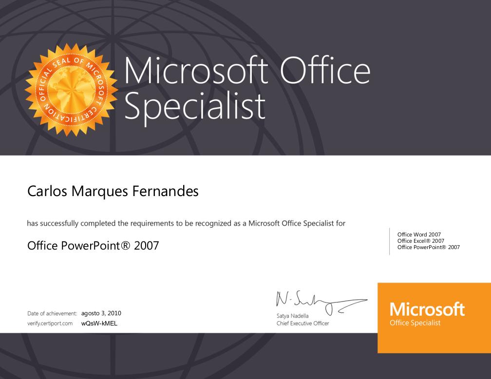 Figura 4 - Certificado Eletrônico Disponível no Site da Microsoft