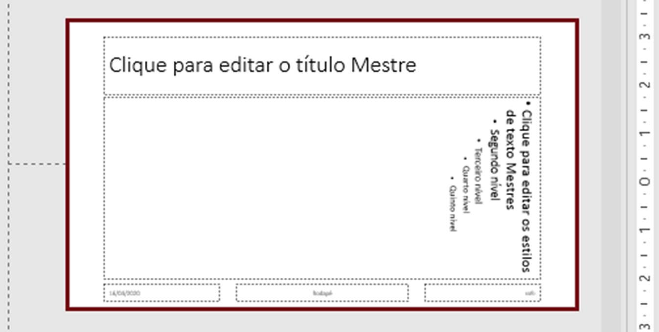 Figura 19 - Layout Título Normal e Texto Vertical