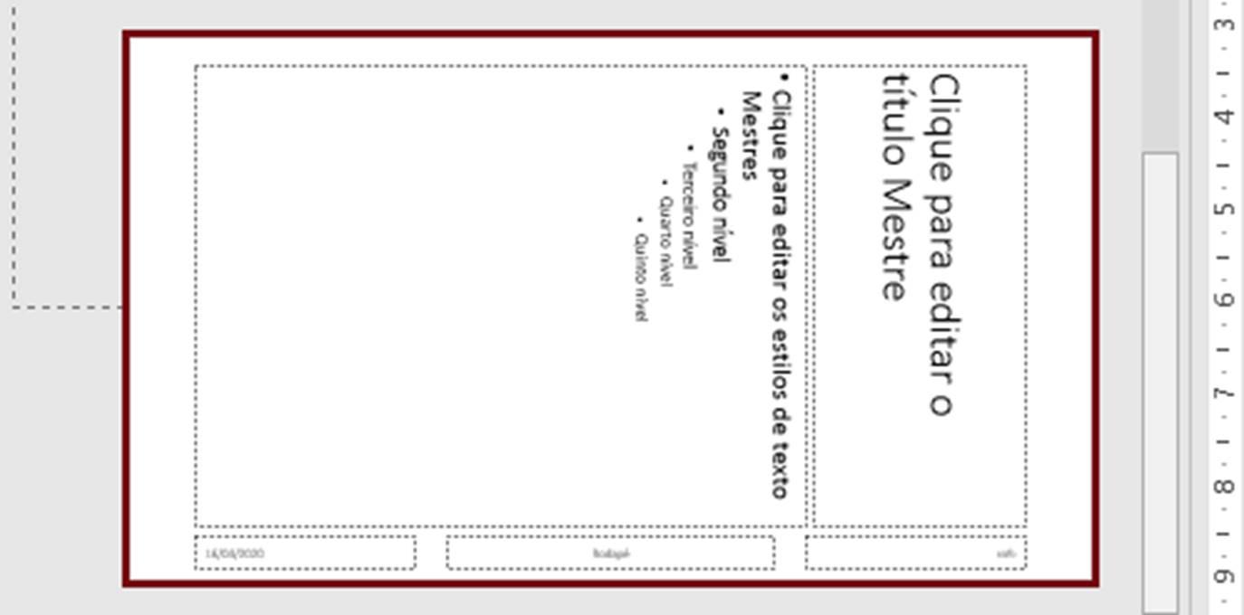 Figura 20 - Layout Título e Texto Vertical