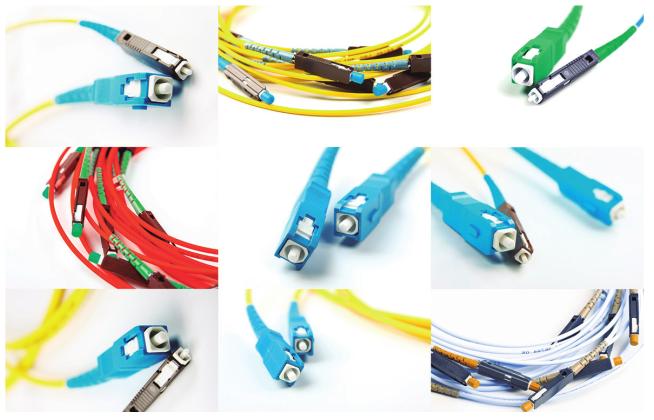 Conectores para cabos de fibra óptica