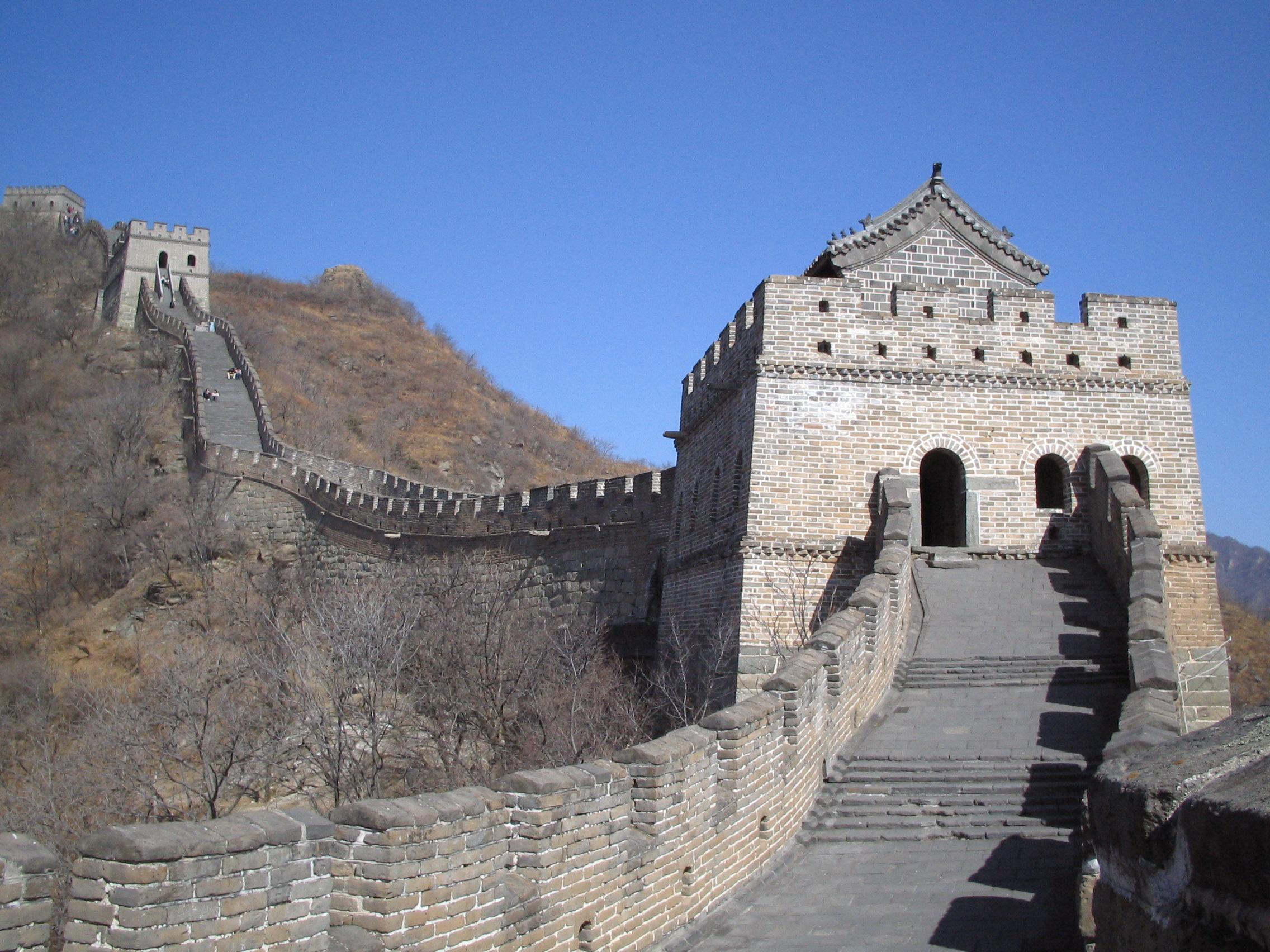 Torres da muralha perto de Pequim.