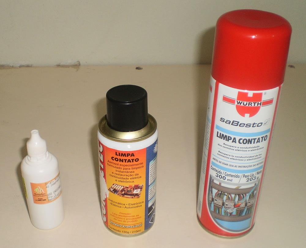 Álcool isopropílico e limpa contato