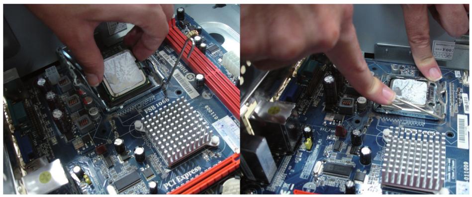 Fixação do processador na placa-mãe