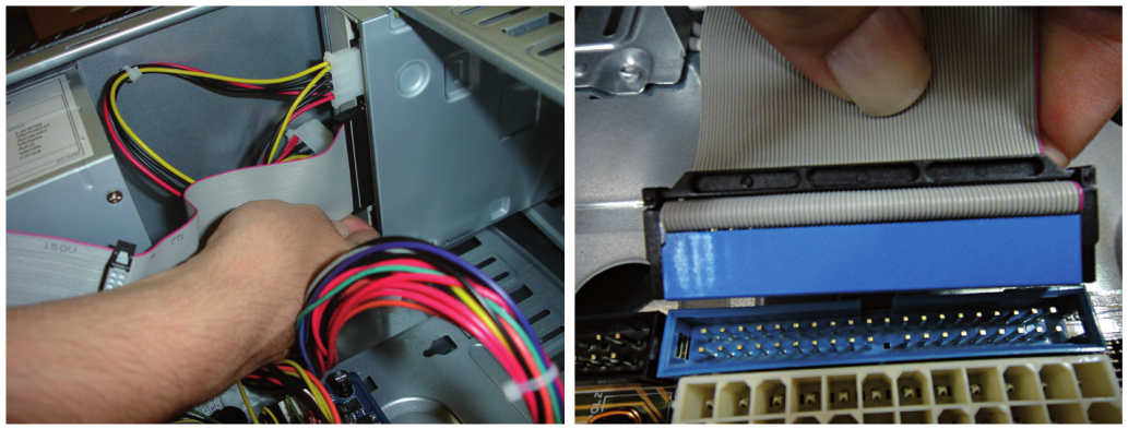Instalando flat cable